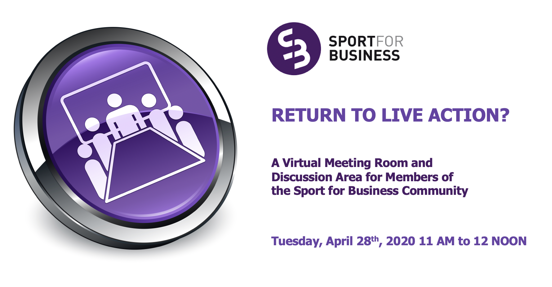 Sport for Business Live Meeting - Returning 'Behind Closed Doors'